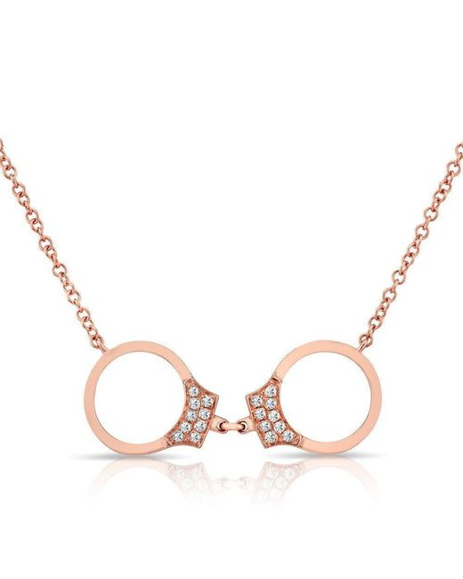 Anne Sisteron - Multicolor 14kt Rose Gold Diamond Handcuff Necklace - Lyst