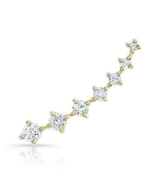 Anne Sisteron - Metallic 14kt Rose Gold Large Diamond Organic Ear Climber - Lyst