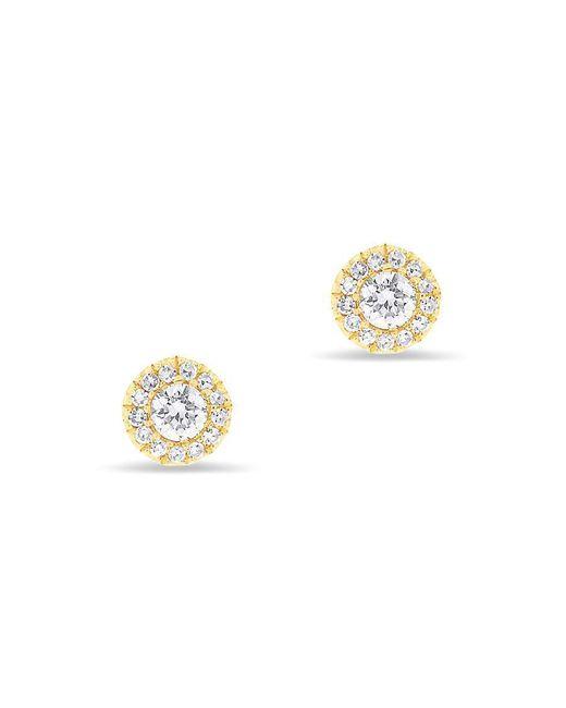 Anne Sisteron - Metallic 14kt Yellow Gold Diamond Ava Stud Earrings - Lyst
