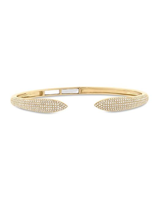 Anne Sisteron - Metallic 14kt Yellow Gold Diamond Horn Bangle - Lyst