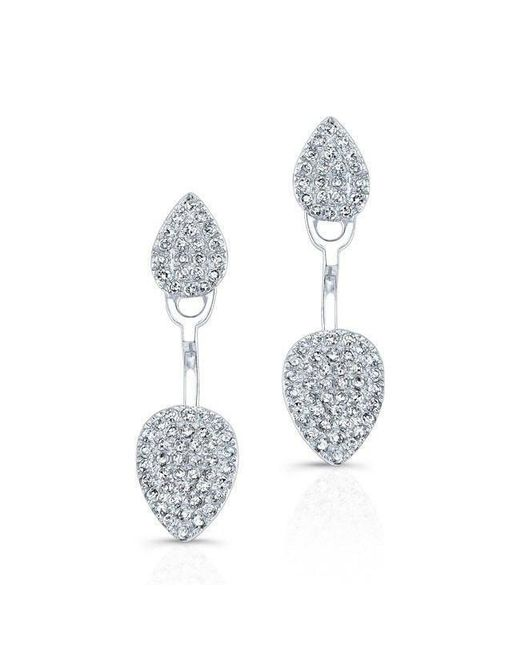Anne Sisteron - Metallic 14kt White Gold Pear Shaped Floating Earrings - Lyst