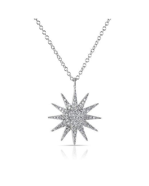 Anne Sisteron - 14kt White Gold Diamond Glimmer Necklace - Lyst
