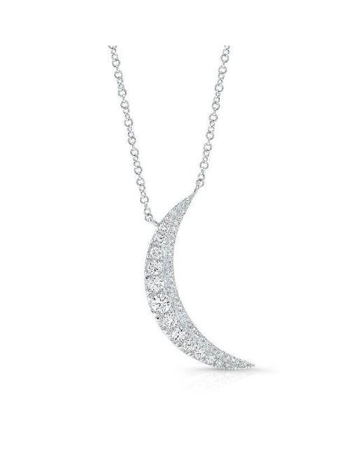 Anne Sisteron - Metallic 14kt White Gold Diamond Luna Necklace - Lyst