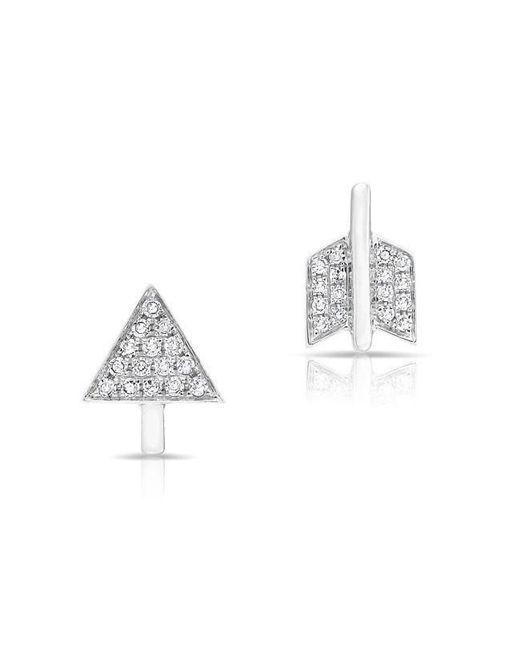 Anne Sisteron | Multicolor 14kt White Gold Diamond Split Arrow Stud Earrings | Lyst