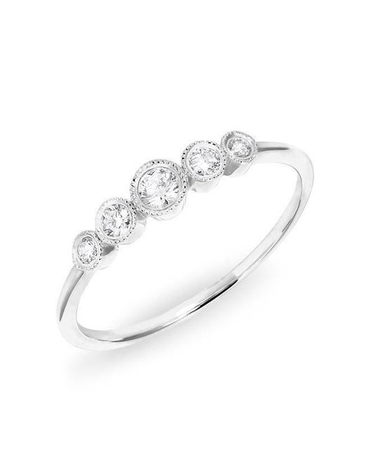 Anne Sisteron - Metallic 14kt White Gold Diamond Hazel Bezel Ring - Lyst