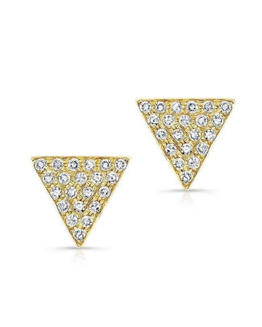 Anne Sisteron - Metallic 14kt Yellow Gold Diamond Medium Triangle Emma Stud Earrings - Lyst