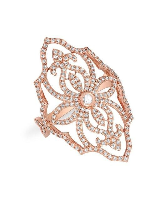 Anne Sisteron - Metallic 14kt Rose Gold Diamond Manoir Ring - Lyst