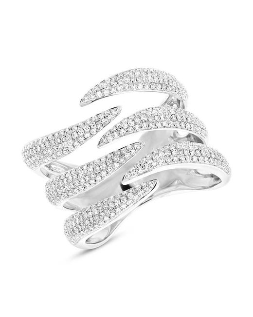Anne Sisteron - Multicolor 14kt White Gold Diamond Flame Ring - Lyst