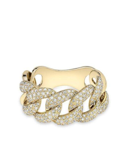Anne Sisteron - Metallic Yellow Gold Luxe Light Diamond Chain Link Ring - Lyst
