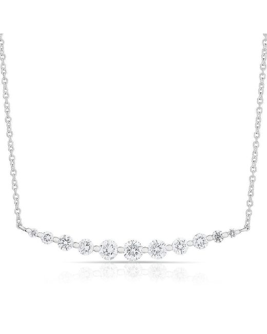 Anne Sisteron | Multicolor 14kt White Gold Multi Diamond Crescent Necklace | Lyst