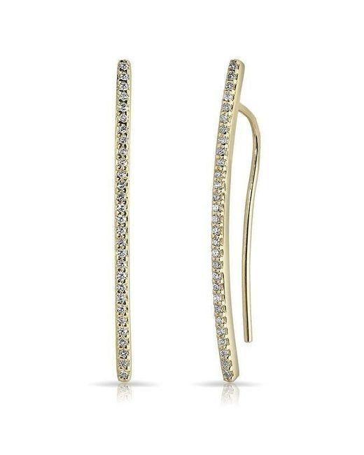 Anne Sisteron Metallic 14kt Yellow Gold Diamond Mini Wishbone Earrings Lyst