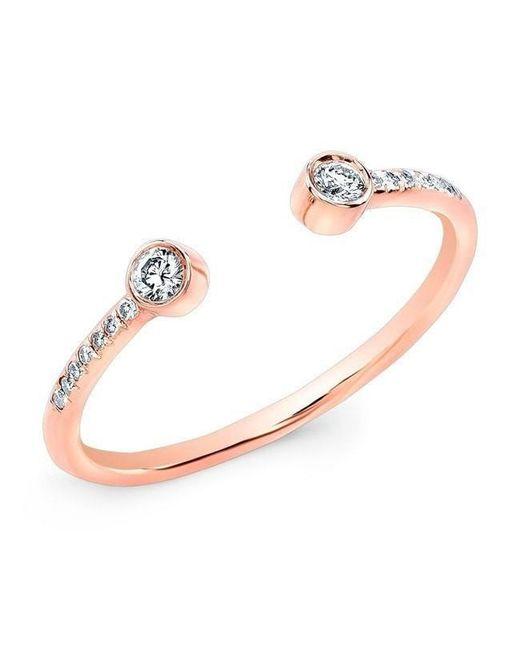 Anne Sisteron - Metallic 14kt Rose Gold Diamond Circuit Ring - Lyst