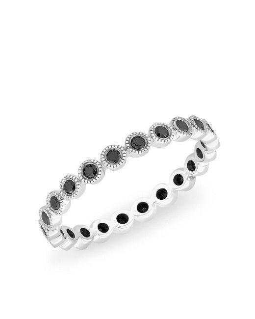 Anne Sisteron - Metallic 14kt White Gold Bezel Set Black Diamond Hope Ring - Lyst
