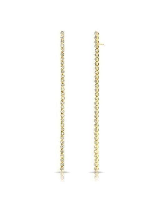 Anne Sisteron - Metallic 14kt Yellow Gold Diamond Leash Collection Dangle Earrings - Lyst