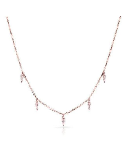 Anne Sisteron - Metallic 14kt Rose Gold Diamond Sistine Spike Necklace - Lyst