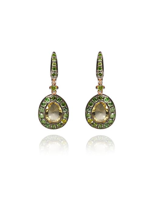 Annoushka - Multicolor Dusty Diamond Olive Quartz Earring - Lyst