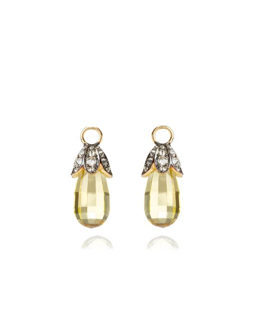 Annoushka | Metallic Unique Lemon Quartz Earring Drops | Lyst