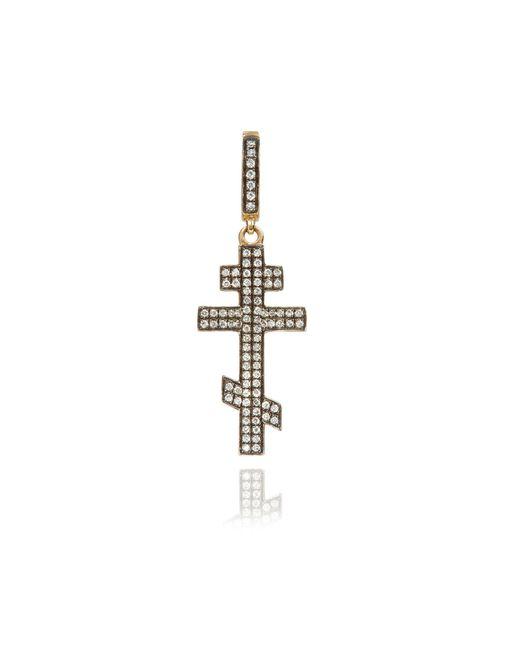 Annoushka - Metallic Touch Wood Diamond Cross Charm - Lyst