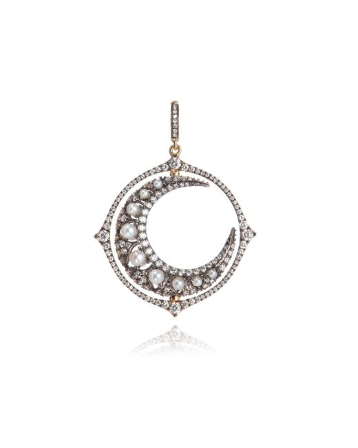 Annoushka - Metallic Mythology 18ct White Gold Diamond Spinning Moon Pendant - Lyst