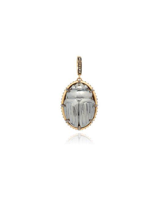 Annoushka - Metallic Mythology 18ct Gold Calcite Diamond Scarab Pendant - Lyst