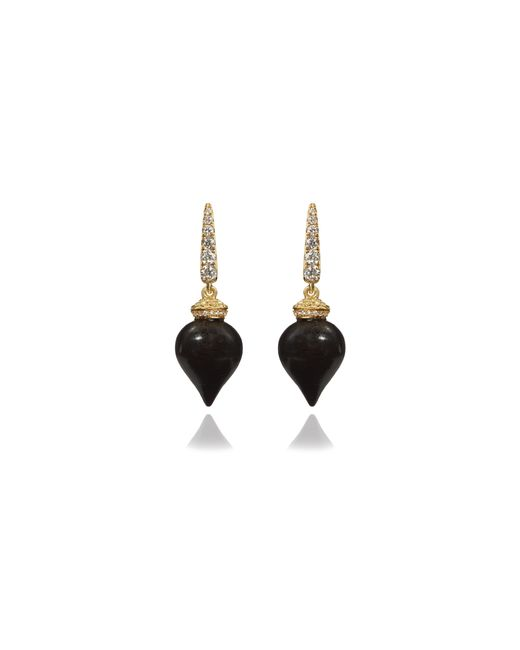 Annoushka   Metallic Touch Wood Ebony Earrings   Lyst