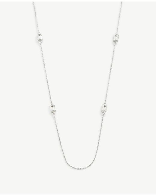 Ann Taylor | Metallic Crystal Layering Necklace | Lyst