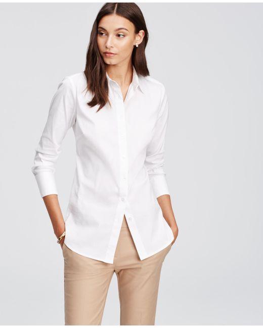 Ann Taylor | White Petite Perfect Shirt | Lyst