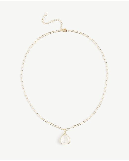 Ann Taylor - Metallic Tai Jewelry Teardrop Pendant Necklace - Lyst