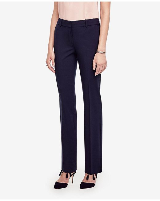 Ann Taylor | Blue The Petite Straight Leg Pant In All-season Stretch - Ann Fit | Lyst