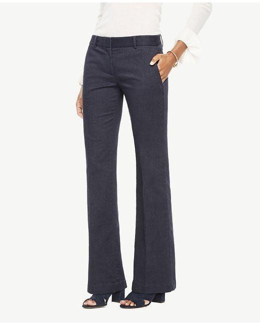 Ann Taylor | Blue The Madison Trouser In Denim - Modern Fit | Lyst