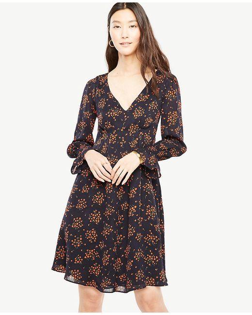 Ann Taylor | Multicolor Petite Bouquet Smocked Cuff Dress | Lyst