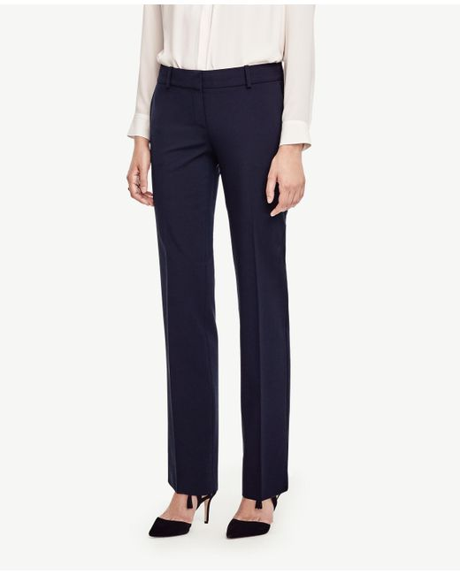 Ann Taylor   Blue The Petite Straight Leg Pant In All-season Stretch - Devin Fit   Lyst
