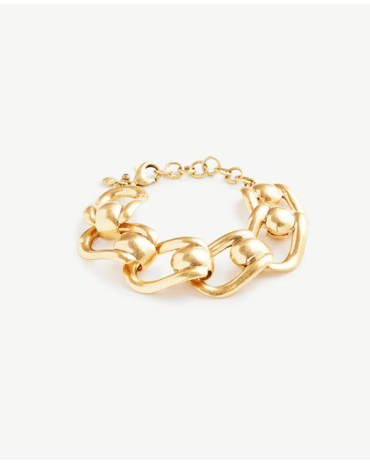 Ann Taylor   Metallic Chunky Link Bracelet   Lyst