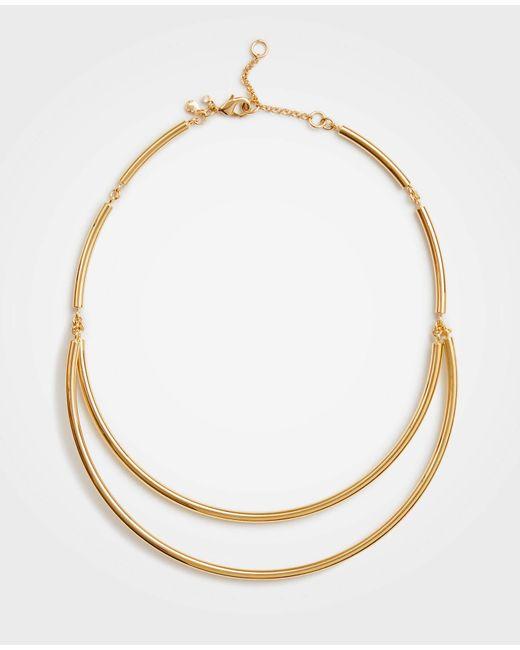 Ann Taylor - Metallic Collar Necklace - Lyst