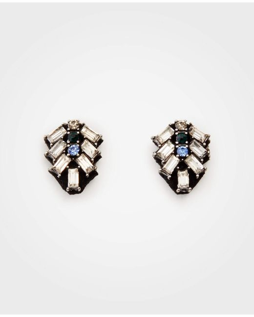 Ann Taylor - Metallic Stone Crystal Stud Earrings - Lyst