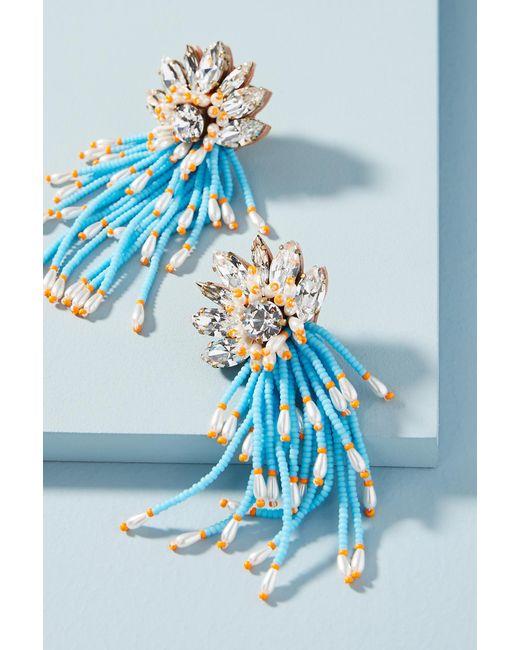 Shourouk | Blue Ocean Cascade Drop Earrings | Lyst