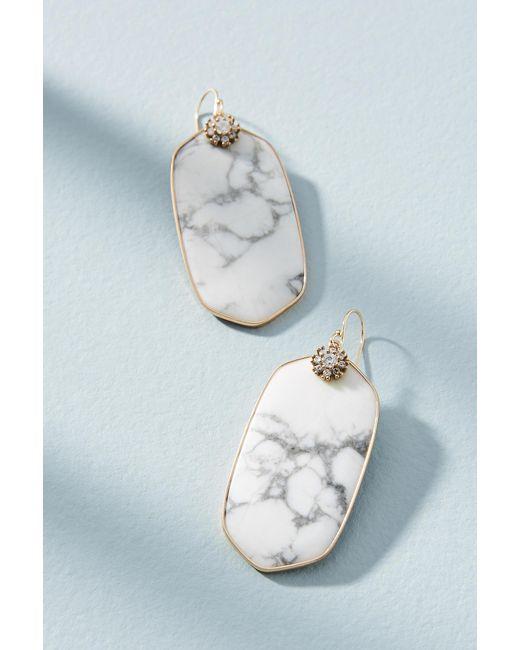 Anthropologie - White Oliviana Drop Earrings - Lyst