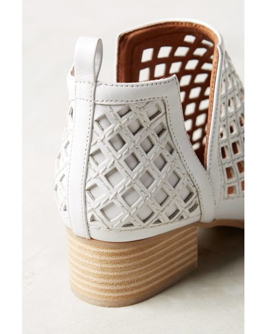 Jeffrey Campbell Taggart Booties In White White Leather