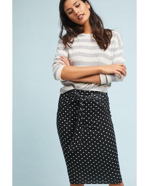 Bailey 44 - Black Polka Pencil Skirt - Lyst