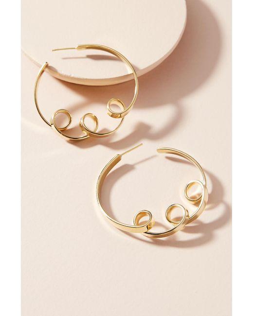 Lena Bernard   Metallic Coiled Ribbon Hoop Earrings   Lyst