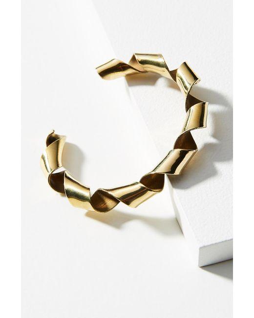 Lena Bernard | Metallic Coiled Ribbon Cuff Bracelet | Lyst