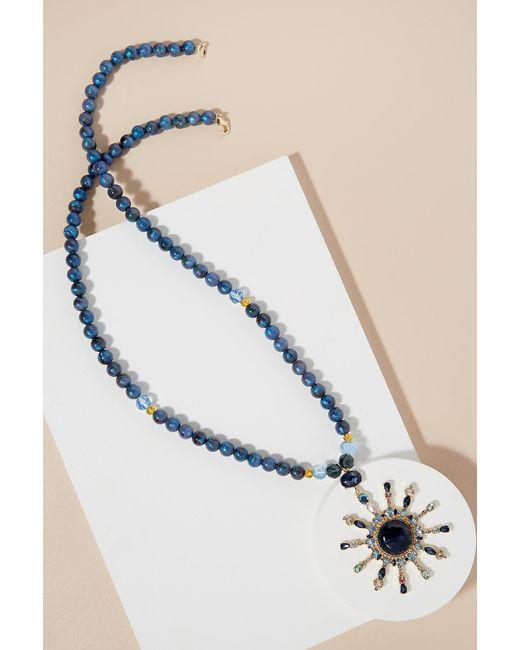 Anthropologie | Blue Starburst Necklace | Lyst