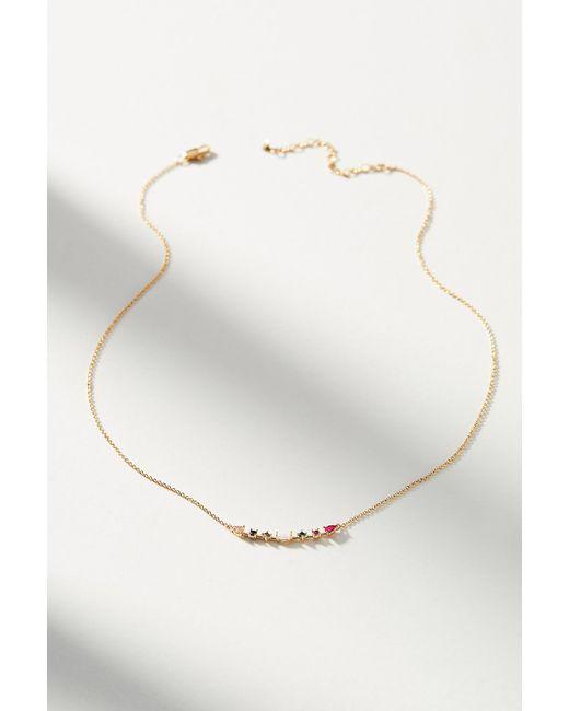 Anthropologie - Metallic Delicate Rainbow Necklace - Lyst