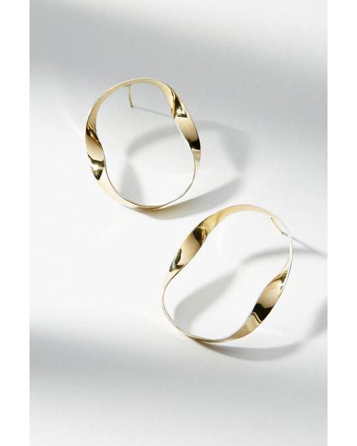 Lena Bernard | Metallic Two-toned Ribbon Hoop Earrings | Lyst