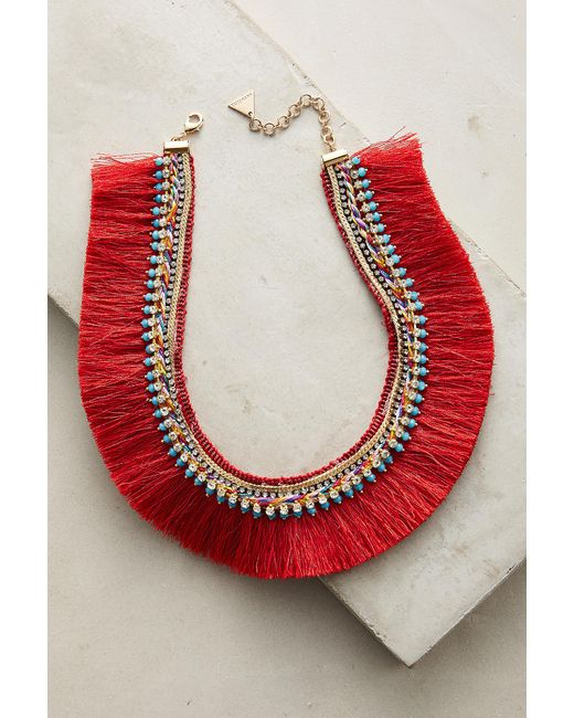 Anthropologie | Red Corsican Bib Necklace | Lyst