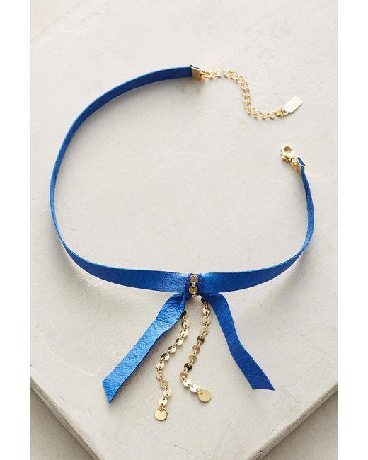Lucky Star Jewels | Blue Prim Choker Necklace | Lyst