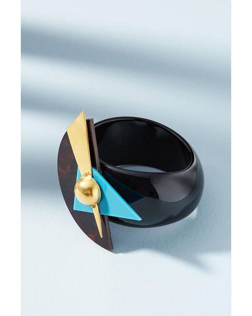 Katerina Psoma | Black Memphis Geo Cuff Bracelet | Lyst