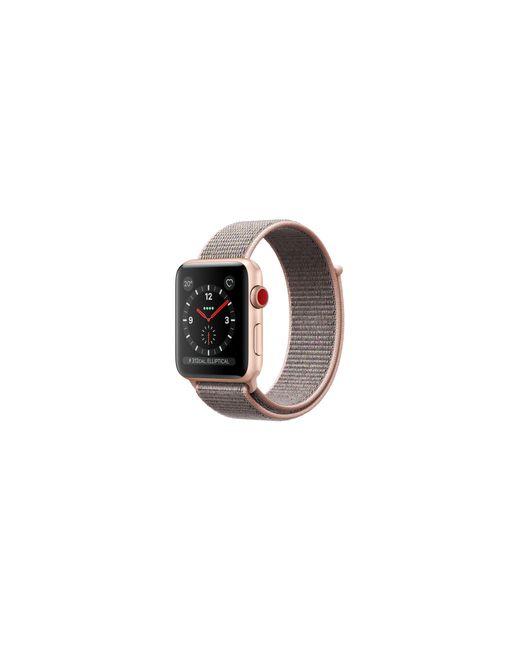 Apple - Metallic Watch Series 3 Gps + Cellular 38mm Aluminium Case Gold With Pink Sand Sport Loop - Lyst