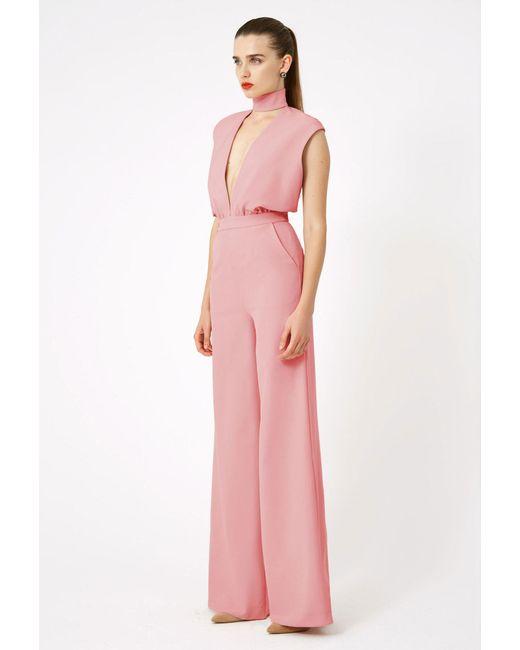 AQ/AQ - Pink Dakota Keyhole Jumpsuit - Lyst