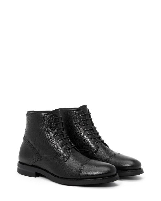 Aquatalia   Black Hugh Shearling-lined Leather Ankle Boots for Men   Lyst